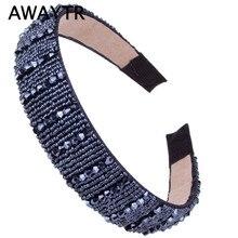 Headbands Hair-Accessories Wedding-Tiara Romantic Jewelry Women Ribbon Trendy AWAYTR