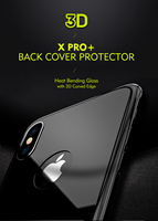 For iphone x iphonex back cover protector Benks XPRO+ series Tempered glass 3D curved edge back cover film for iphone 10 ten