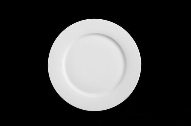New bone china white porcelain tableware round dinner plate relish dish plate dish & New bone china white porcelain tableware round dinner plate relish ...