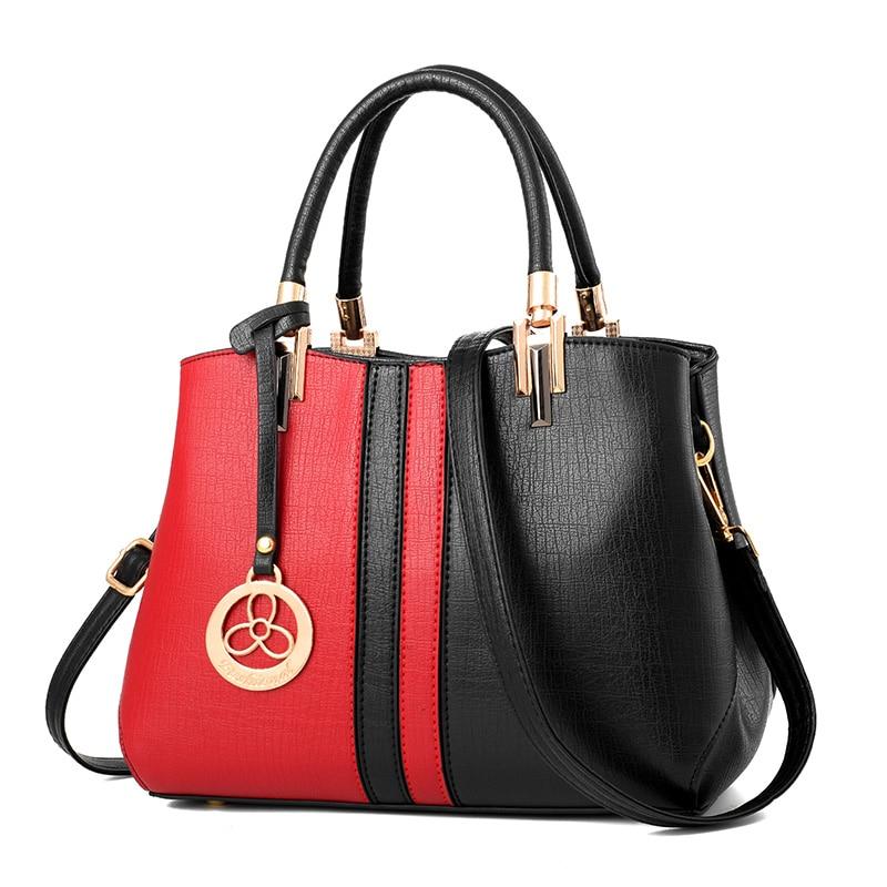 fashion patchwork Women Bag Female Briefcase Handbag OL Shoulder Bag PU Messenger Bags Casual Crossbody Bags Purse Satchel Tote