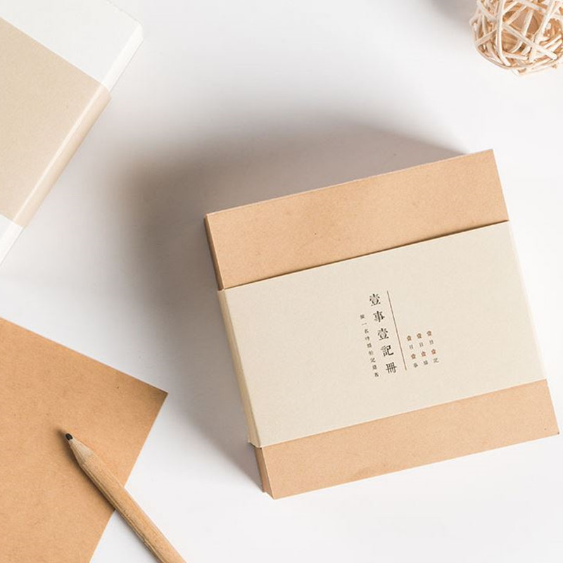 Coloffice 1 White/Kraft Paper Brick Memo Pads Message Notes Stationery Message Sticky Note Creative Decoration Classroom Office 200 sheets 2 boxes 2 sets vintage kraft paper cards notes filofax memo pads office supplies school office stationery papelaria
