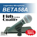Free Shipping! 3pcs High Quality Version Beta 58a Vocal Karaoke Handheld Dynamic Wired Microphone BETA58 Microfone Beta 58 A Mic