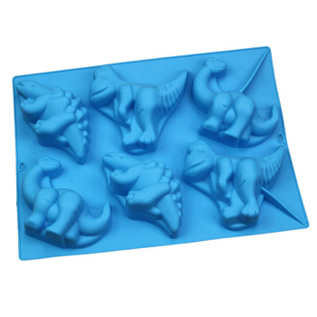 6 cavidad de moldes de pastel de silicona de repostería para hornear herramientas jabón molde para chico niño Fondant caramelo de azúcar Chocolate jalea molde