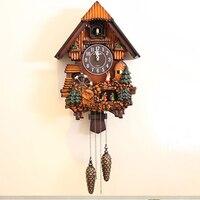 Cuckoo современные Гостиная настенные часы птица будильник Европейский деревянные настенные часы с кукушкой кварцевые хронометраж часы Винт