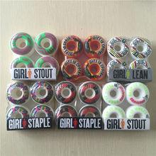 50-54mm USA Brand 101A Girl skateboarding wheels 4pcs/Set High-Density Skateboards Wheel PU GIRL STOUT Skates Board Wheels