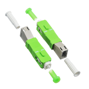 Image 2 - SC/APC stecker auf LC weibliche MM modus Fiber optic koppler flansch stecker adapter