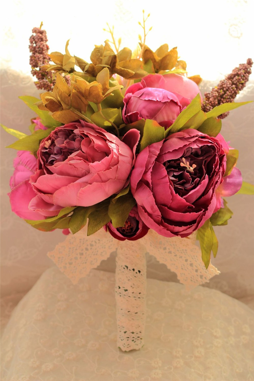 Artificial flower Wedding Bouquet Bouquet Bridal Bouquet Bridesmaid Wedding Decoration Event Party Supplies buques de noivas (2)
