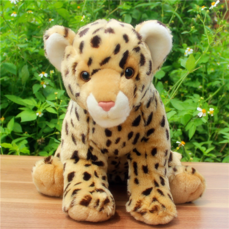 Stuffed Animals Cute Big Toy Cheetah  Doll Pillow  Plush Leopard Kids Toys  Education Props 5pcs lot pikachu plush toys 14cm pokemon go pikachu plush toy doll soft stuffed animals toys brinquedos gifts for kids children