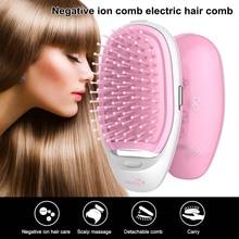 Portable Negative Ion Hairbrush Mini Hair Smooth Brush Massa
