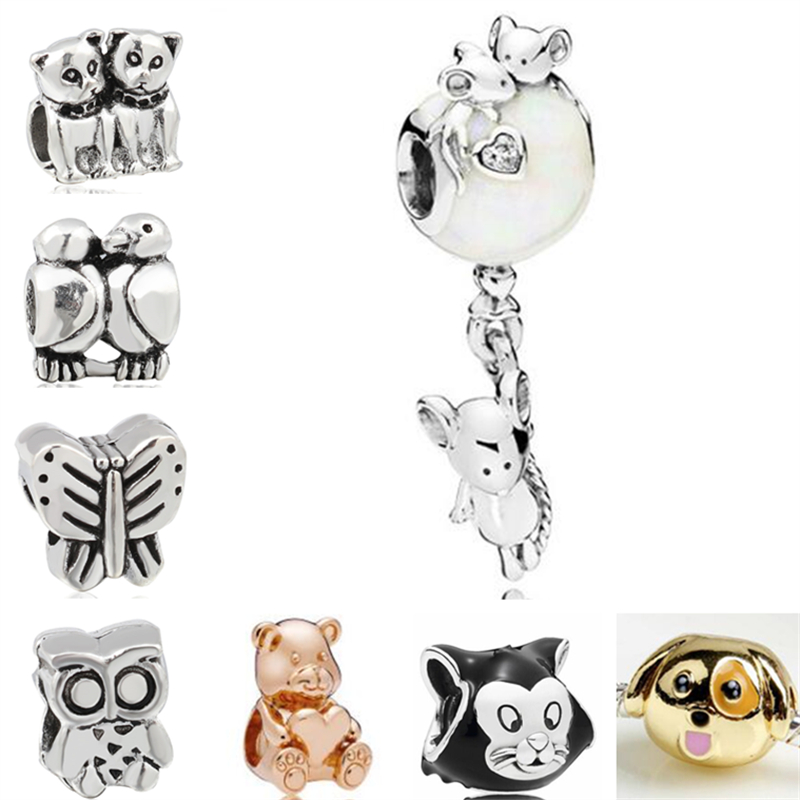 Beads & Jewelry Making Vintage Silver Color Monkey Flower Rabbit Love Heart Alloy Charm Beads Fit Pandora Bangles Necklaces Women Diy Jewelry Colares For Sale Beads