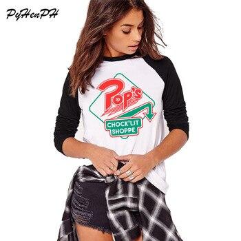 40579aad072 PyHenPH 2018 Демисезонный ривердейл Southside змеи PatternT рубашка Леди  Karajuku Топы в стиле хип-хоп новинка футболка женские