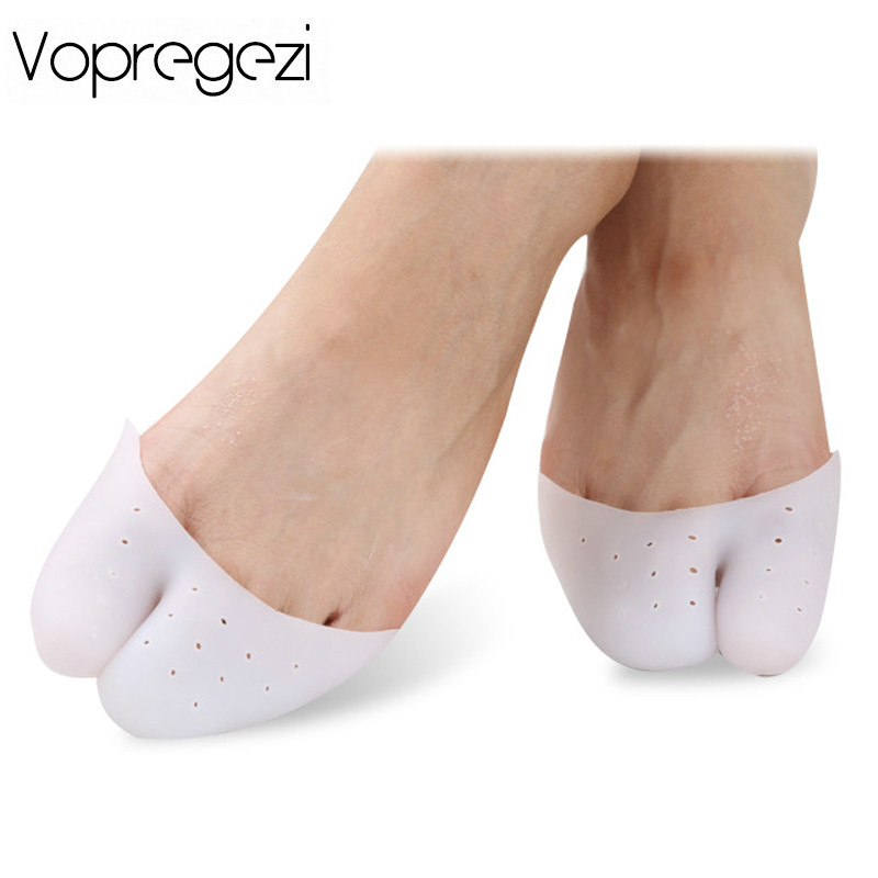 Vopregezi 2pcs Soft Silicone Gel Insoles Professional Ballet Shoe Toe Support Pads Foot Care Tools Orthopedic Mat Toes Corrector