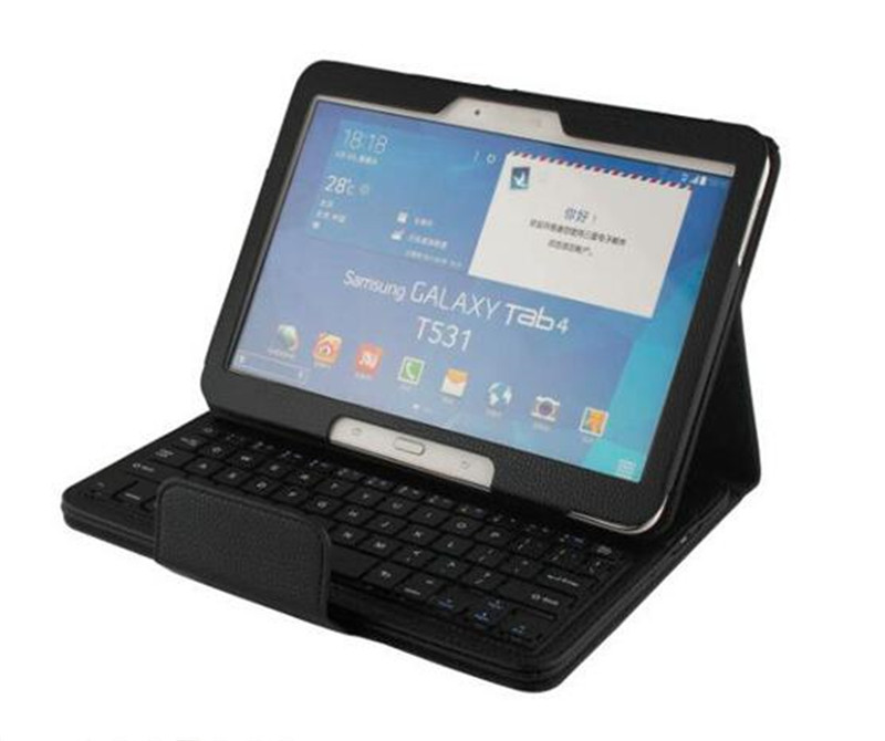 2 in 1 Removable Wireless Bluetooth Keyboard Case for Samsung Galaxy Tab 4 10.1 T530 T531 T535 Tablet Tablet free shipping