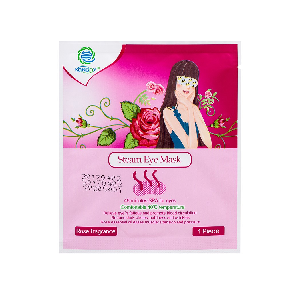 KONGDY 3 Bags Eye Mask for Sleeping With Steam Blcak Mask Add Essential Oil Moisturize Face Mask for Dry Eye Massage &Relaxation 6