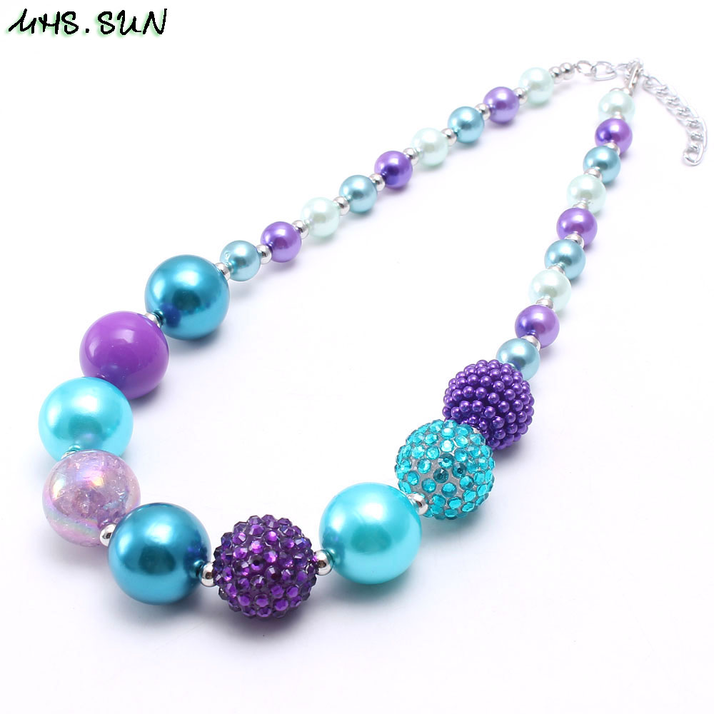 S Chunky Beads Necklace Fashion