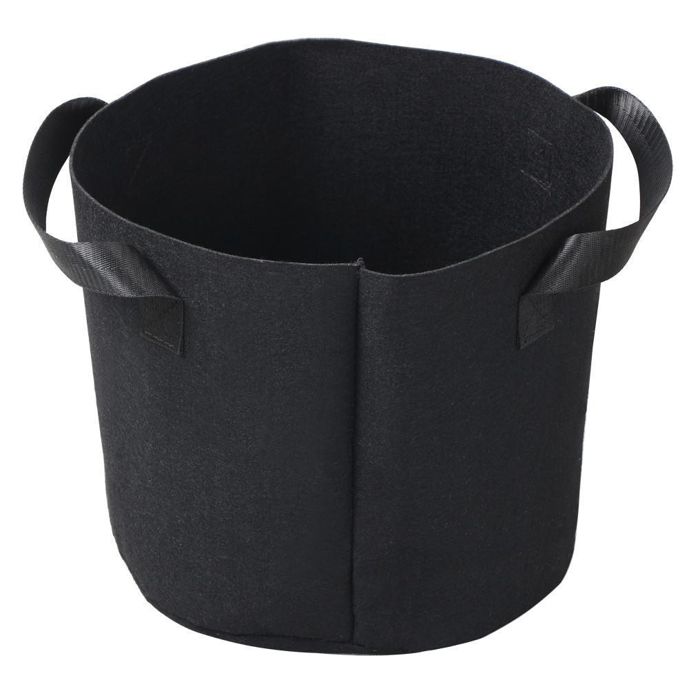 5pcs 5 Gallon Round Planter Grow Bag Plant Pouch Root Pots Container with Handles Black