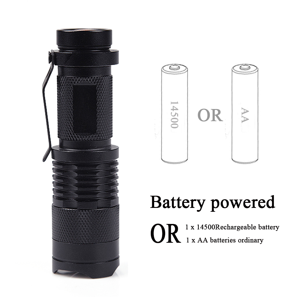 CREE LED UV Flashlight SK68 Purple Violet Light UV 395nm Torch