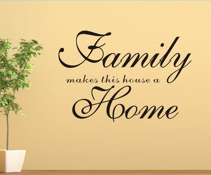 Quotes On Home Enchanting Family Makes This House A Home.quotes And Sayings Wall Sticker