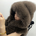 2016 costomized real natural fur removable hood with zipper