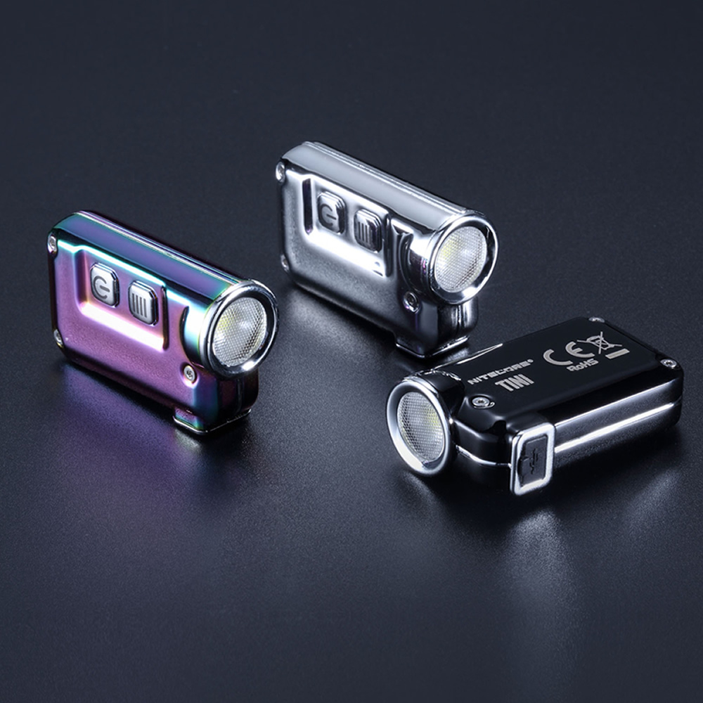 Nitecore TINI SS USB Rechargeable Stainless Steel LED Key Light CREE XP G2 S3 LED 380 LM Include USB rechargeable Li Ion Battery