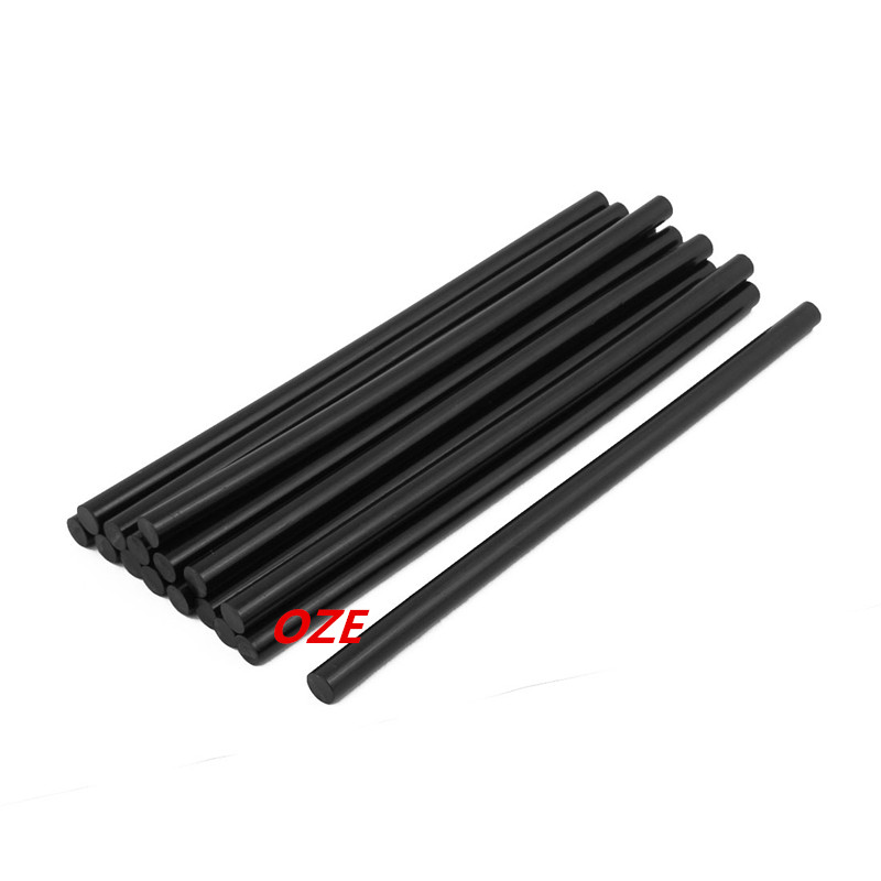 16Pcs 271mm x 11mm Hot Melt Glue Stick Black for Electric Tool Heating Glue Gun 1pcs yellow 300w temperature constant electric thermo heating hot melt adhesive glue gun pistol puller for 11mm glue stick