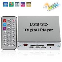 12 V Digital Auto Car Amplificador de Potencia y de Audio Reproductor de MP3 Lector de tarjetas FM Radio 3-control Electrónico de Teclado Apoyo USB SD Mmc + Remote