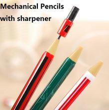 1 шт/лот 2b автоматический карандаш триколор с точилкой для