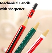 1pcs/lot 2B Press Automatic Pencil Tricolor With Sharpener Drawing Non-Toxic Papeleria School Office Supplies