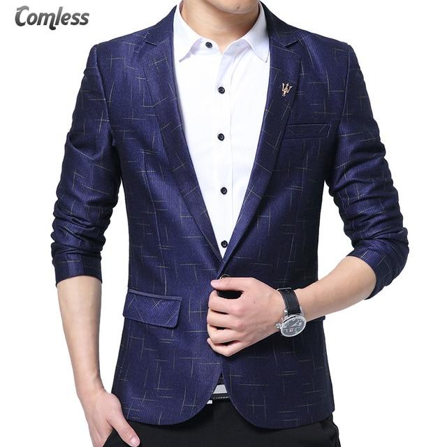 2017 Printemps Design De Mode Hommes Blazer Jeune Blazer Hommes  Occasionnels veste Slim Fit Costumes Costume 76d052b68121