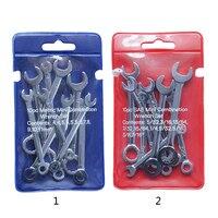 10 stücke Mini Spanner Schraubenschlüssel Set Schlüssel Ring Spanner Explosion proof Tasche Britischen/Metric Typ Schraubenschlüssel-in Schraubenschlüssel aus Werkzeug bei