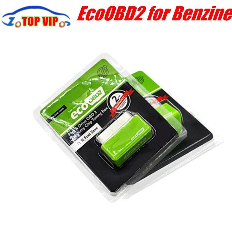 Beste Preis EcoOBD2 Economy Chip Tuning Box OBD Auto Kraftstoff Saver Eco OBD2 für Benzine/Diesel Autos Kraftstoffeinsparung 15% Stecker/stick