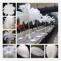 Оптовая продажа! Бесплатная Доставка 100 pcs20-22 inch 50-55 см красивые белые перья страуса