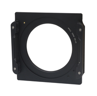 WYATT Aluminum 100mm Square Filter Holder Support + 77 77mm Double Thread Ring Adapter for Lee Hitech Cokin Z 4x4 4x6 Filter