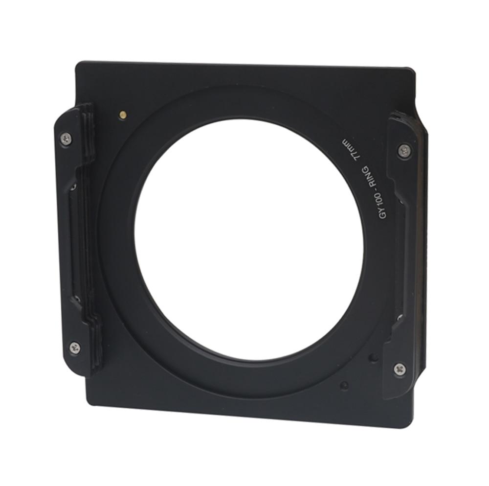Wyatt en aluminium 100mm carré porte-filtre soutien + 77-77mm double fil anneau adaptateur pour lee hitech cokin z 4x4 4x6 filtre