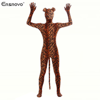 Ensnovo Spandex Tiger Costume Cosplay Zentai Zèbre Léopard Body Unitard Corps Costume Stretch Lycra Full Body Costumes D'animaux