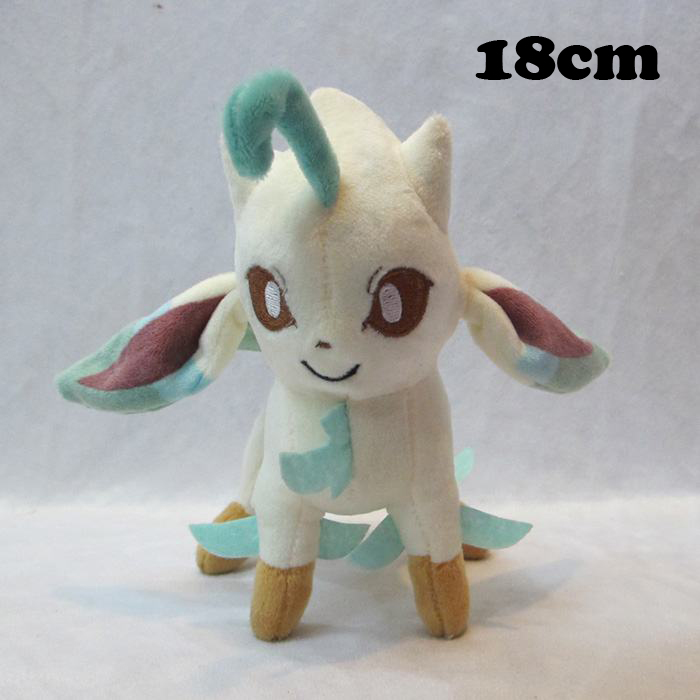 Free Shipping Cute 7 Anime Cartoon Leafeon Stand Version 18cm Plush Toys Soft Stuffed Toy Kids Plush Doll