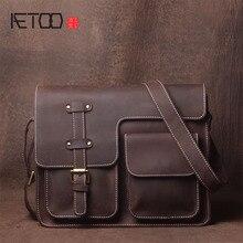 AETOO Original first layer leather man hand retro leisure leisure horse shoulder messenger messenger bag