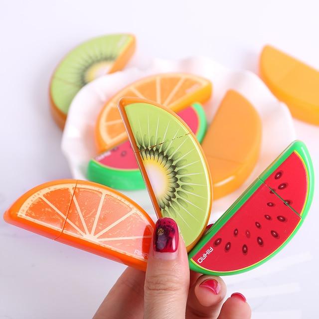 3 PCS Kawaii Plastic Material Escolar Papelaria Cute Fruit Correction Tape Stationery Gift School Supplies Correttore Nastro