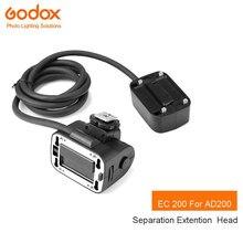 Godox EC200 1,85 м типа «Горячий башмак» дистанционного разделения удлинитель вспышка стробоскоп-вспышка для Godox AD200 флэш-памяти