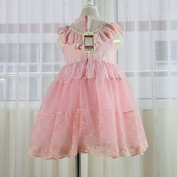 2017 vestido de encaje de las niñas tutu rosa volantes bordados - Ropa de ninos - foto 4