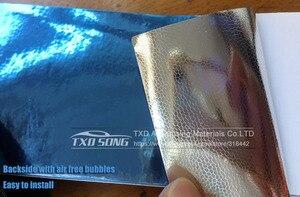 Image 4 - 50CM*1M/2M/3M/4M/5M Roll Car styling High stretchable Light blue Chrome Mirror Vinyl Wrap Sheet Roll Film Car Sticker Car Body