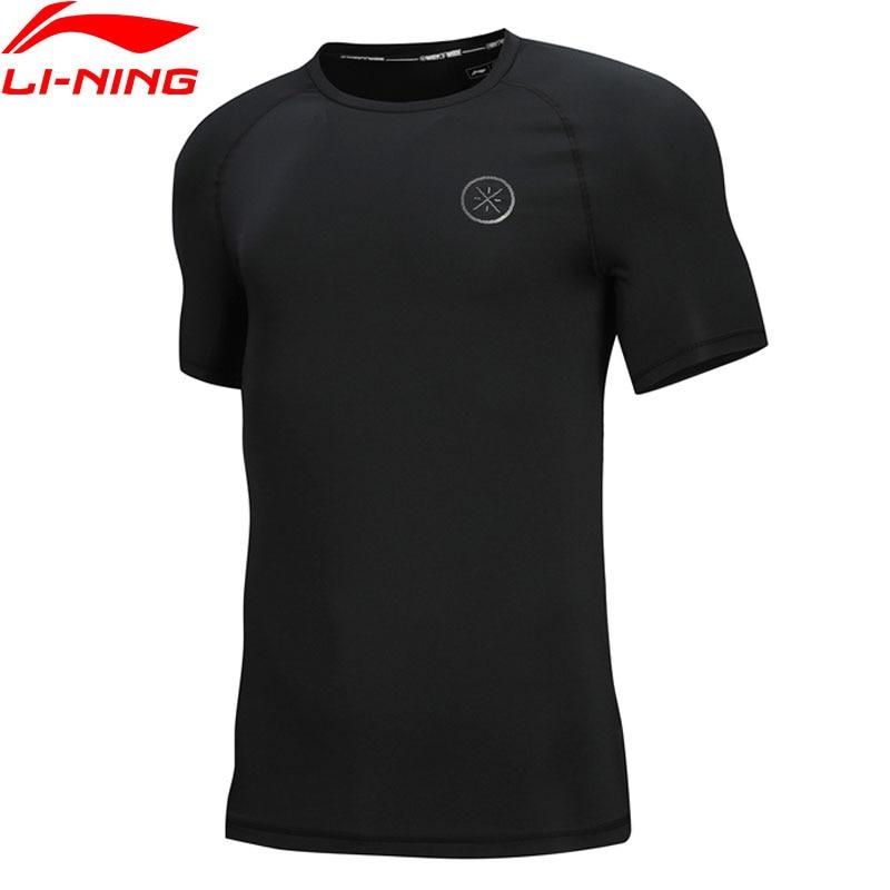 Li-Ning Men's Wade Jerseys Breathable Slim Fit 81% Polyester 19% Spandex LiNing Li Ning Sports T-Shirts Tee Tops ATSN269 MTS2832