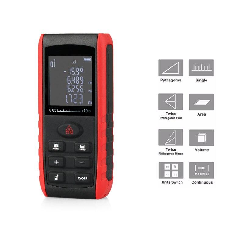 KXL-E40 Handheld Laser Distance Meter Rangefinder 40m New