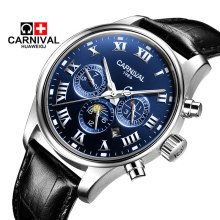 Carnival model multi-functional sports activities fashion watch males's computerized mechanical watch waterproof luminous male watch