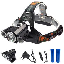 Portable Transformers powerful 3xT6 LED headlamp 18650 tactical 4-mode headlight 360 degree front bike bicycle lamp torch light
