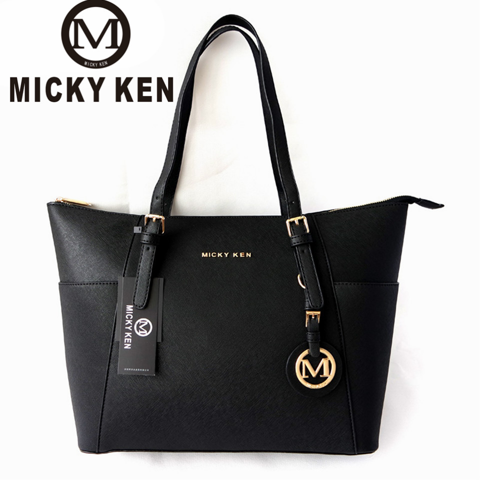 MICKY KEN Large Capacity Luxury Handbags michael same style Women Bags Designer Famous Brand Lady Leather Tote Bags sac a main european and american style fashion lady genuine leather handbags women famous brands large captain casual tote bags sac a main