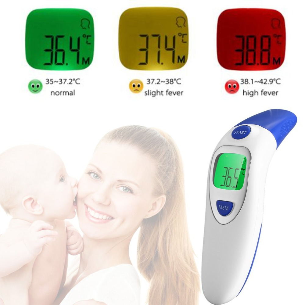 Baby Termometro Digital IR LCD Infrared Dual Mode Adult Forehead and Body Ear Thermometer Measurement with Alarm Function