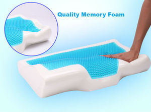 Image 4 - BEYOND CLOUD Butterfly Shaped Memory Foam Pillow Cooling Gel Bed Pillow Cervical Protect Orthopedic Pillows for Sleeping 003