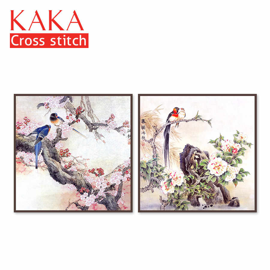 Cross stitch kits,Embroidery needlework sets with printed pattern,11CT-canvas for Home Decor Painting,Animals Full NCKA038