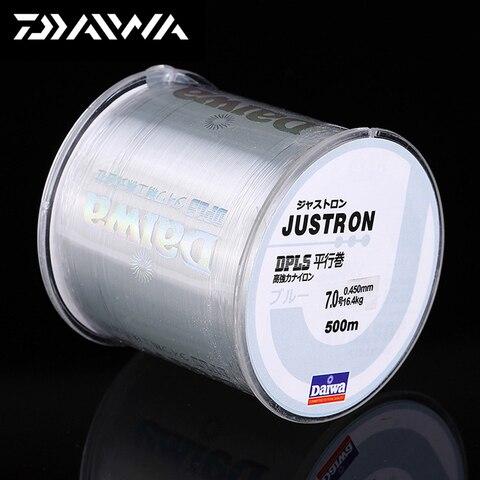 daiwa 500 m super forte daiwa linha de pesca de nylon justron 2lb 40lb 7